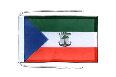 Equatorial Guinea - Flag with ropes 8x12""