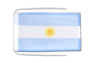 Argentina Flag with ropes 8x12""