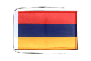 Armenia - Flag with ropes 8x12""