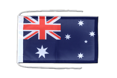 Australia Flag with ropes 8x12""