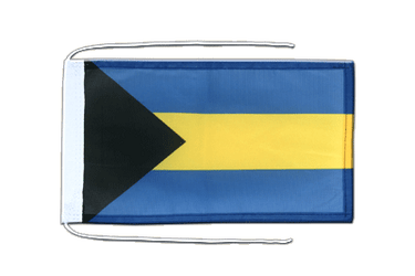 Bahamas Flag with ropes 8x12""