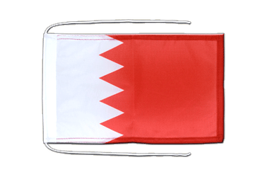 Bahrain Flag with ropes 8x12""