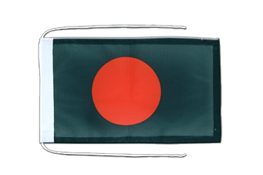 Bangladesh - Flag with ropes 8x12""