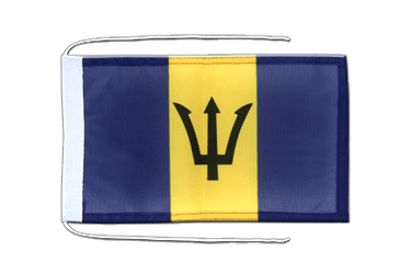 Barbados Flag with ropes 8x12""
