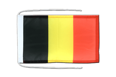 Belgium Flag with ropes 8x12""