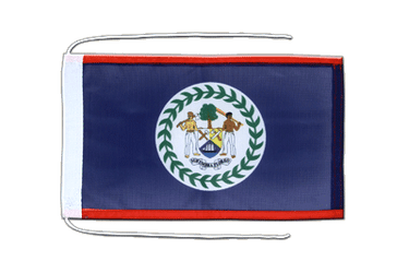 Belize - Flag with ropes 8x12""