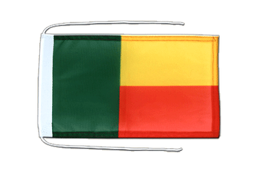Benin - Flag with ropes 8x12""