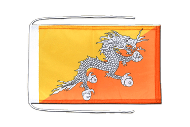 Bhutan Flag with ropes 8x12""
