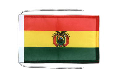 Bolivia Flag with ropes 8x12""