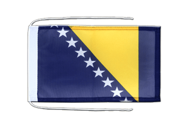 Bosnia-Herzegovina Flag with ropes 8x12""