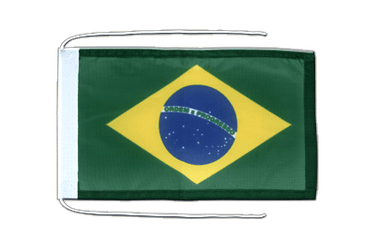 Brazil Flag with ropes 8x12""