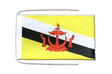 Brunei Flag with ropes 8x12""