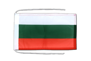 Bulgaria - Flag with ropes 8x12""