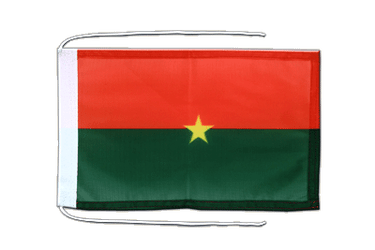 Burkina Faso - Flag with ropes 8x12""