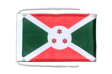 Burundi - Flag with ropes 8x12""