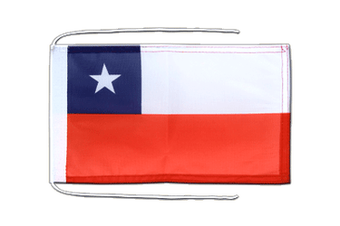 Chile Flag with ropes 8x12""