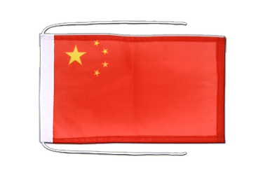 China Flag with ropes 8x12""