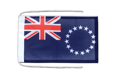 Cook Islands - Flag with ropes 8x12""