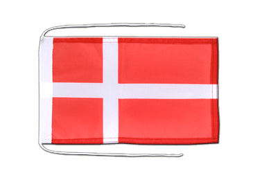 Denmark Flag with ropes 8x12""