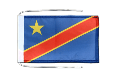 Democratic Republic of the Congo Flag with ropes 8x12""