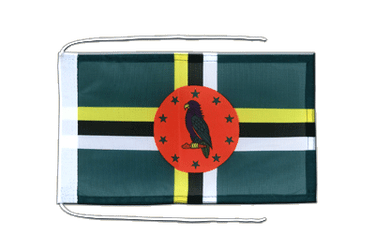 Dominica Flag with ropes 8x12""