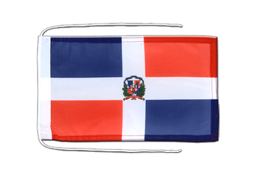 Dominican Republic Flag with ropes 8x12""