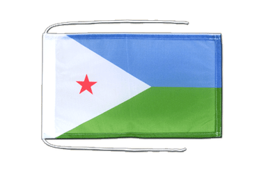 Djibouti - Flag with ropes 8x12""