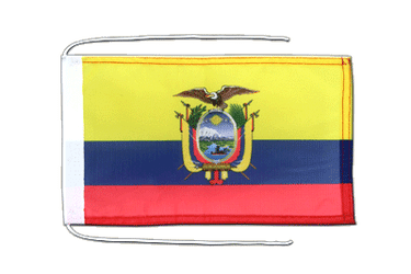 Ecuador Flag with ropes 8x12""