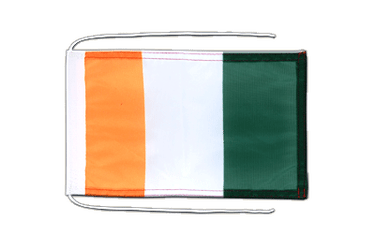 Ivory Coast Flag with ropes 8x12""