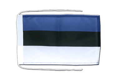 Estonia - Flag with ropes 8x12""