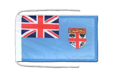 Fiji - Flag with ropes 8x12""