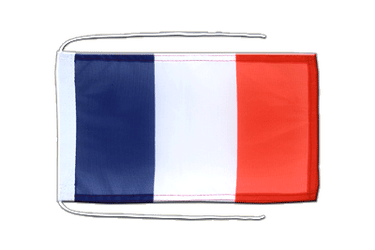 France - Flag with ropes 8x12""