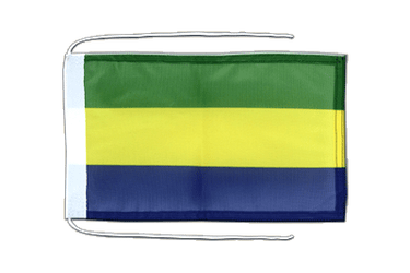 Gabon Flag with ropes 8x12""