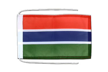 Gambia - Flag with ropes 8x12""