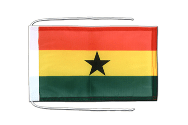 Ghana - Flag with ropes 8x12""