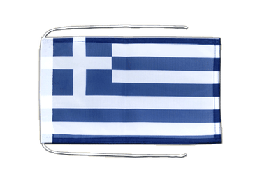 Greece Flag with ropes 8x12""