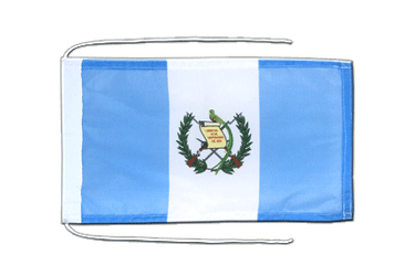 Guatemala - Flag with ropes 8x12""