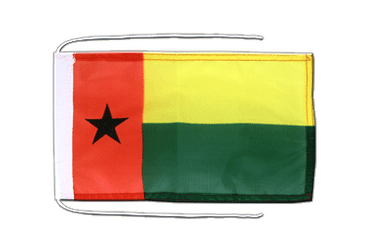 Guinea-Bissau - Flag with ropes 8x12""