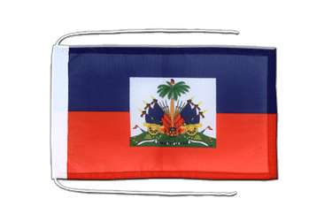 Haiti Flag with ropes 8x12""