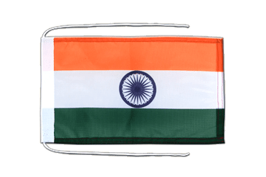 India Flag with ropes 8x12""