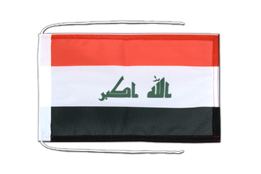 Iraq 2009 Flag with ropes 8x12""
