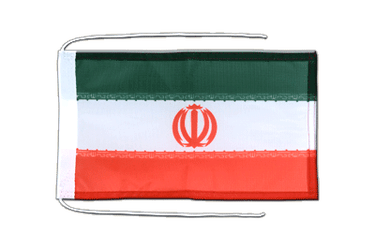 Iran Flag with ropes 8x12""