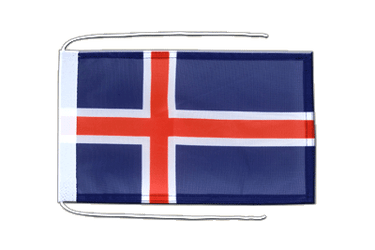 Iceland Flag with ropes 8x12""