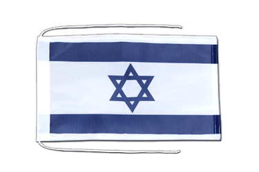 Israel Flag with ropes 8x12""