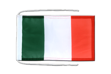 Italy - Flag with ropes 8x12""