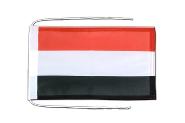 Yemen Flag with ropes 8x12""