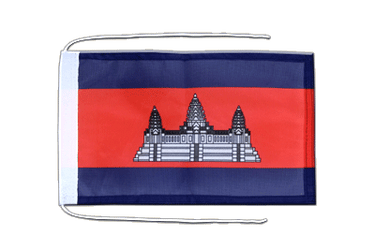 Cambodia Flag with ropes 8x12""
