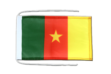 Cameroon - Flag with ropes 8x12""