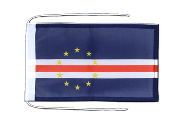 Cape Verde Flag with ropes 8x12""