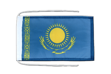 Kazakhstan Flag with ropes 8x12""